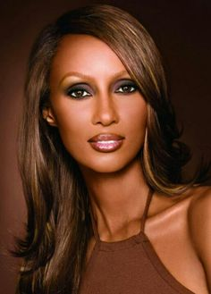 Iman ('faith' in Arabic) born a Somali-American fashion model, actress & entrepreneur in ethnic cosmetics. Married to David Bowie (till his death), she has 2 daughters, 1 born in the other (with Bowie), in My Black Is Beautiful, Beautiful Curves, Beautiful People, Beautiful Women, Simply Beautiful, Mick Jagger, Estelle Lefébure, Natalia Vodianova, Ageless Beauty