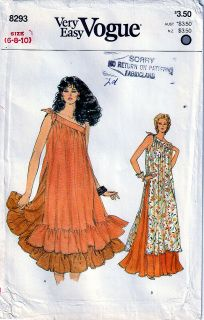 Size Bust 30 Very loose fitting, flared, pullover tunic, mid-knee or lower mid-calf length, has bands extending into shaped tie Skirt Patterns Sewing, Vogue Sewing Patterns, Vintage Sewing Patterns, Clothing Patterns, Sewing Ideas, Evening Attire, Normal Wear And Tear, Summer Breeze, Vintage Skirt
