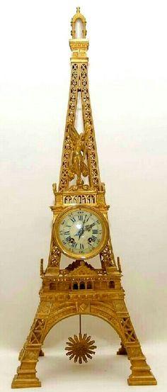Circa 1895 Eiffel Tower clock