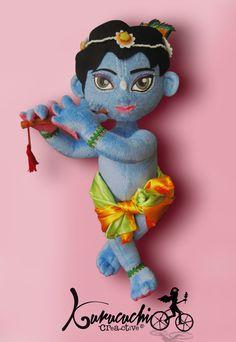 Krishna niño en peluche. Estos pedidos requieren mucho detalle, los difruto mucho. Pedidos kurucuchi@gmail.com