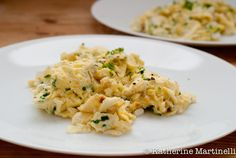 Feta and herb scramble