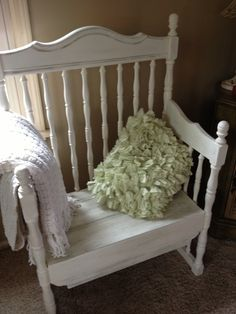 crib repurpose   Repurposed crib bench   Hopes