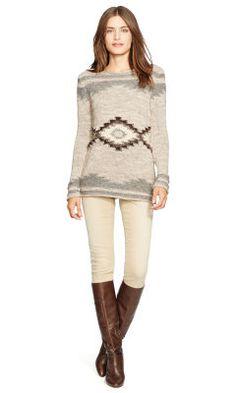 Geometric Cotton-Blend Sweater - Lauren Jeans Co. Crewnecks & Tanks - RalphLauren.com