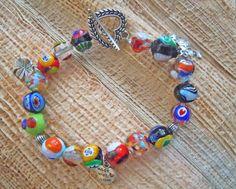 Braccialetto con perle di vetro di Murano