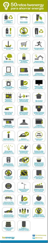 50 retos para ahorrar energía #infografia #infographic #medioambiente