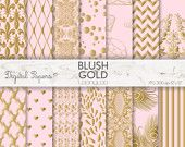 BLUSH GOLD PATTERN, pastel, wedding, baroque, light, summer, invites, scrapbooking, craft, printable sheets,background,texture,wallpaper