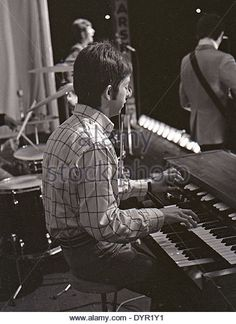 SMALL FACES pop group at Windsor Jazz & Blues Festival, England, 11 August 1967. Ian McLagan on keyboards, Marriott - Stock Image