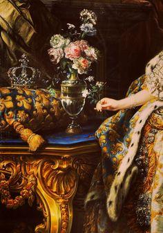 Charles-André Van Loo. Portrait of Marie de Leszezyńska. Queen of France.