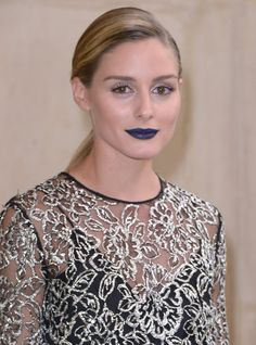 Olivia Palermo's Navy Blue Lip Was Given the Rihanna Seal of Approval