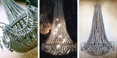 Homemade jewelry, gifts, ceramics, bags, cards and stationary. proudly made by women of South Africa! Kitchen Pendant Lighting, Kitchen Pendants, Beaded Chandelier, Chandelier Lighting, Beach Condo, Beach House, Homemade Jewelry, Lamp Shades, Light Fixtures