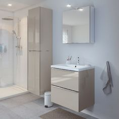 armoire murale blanc imandra l 60 x h 60 x p 15 cm armoires. Black Bedroom Furniture Sets. Home Design Ideas