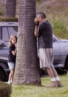 RDA playing hide and seek with his daughter Wylie