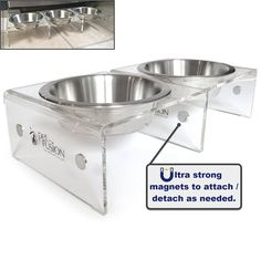 PetFusion Elevated SinglePod Magnetic Pet Feeder [Attachable / Detachable]. 4 inches tall. US FOOD GRADE Stainless steel bowls * New and awesome dog product awaits you, Read it now  : Dog bowls