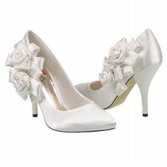 Women's Luichiny April Lou Ivory Satin Shoes.com