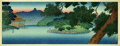 hanga gallery . . . torii gallery: Pine Pond by Kawase Hasui