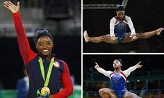 Simone Biles wins gold in women's individual all-round gymnastics final at Rio 2016 as Team GB's Ellie Downie misses out on a medal