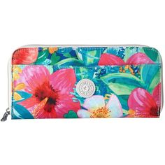 Kipling Travel Documents Holder (Tropical Garden Print) Wallet ($54) ❤ liked on Polyvore featuring bags, kipling bags, clear bags, floral print bag, document pouch and travel document pouch