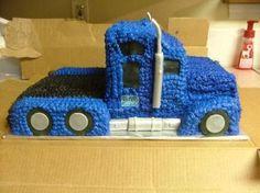 new ideas semi truck birthday party decorations cake ideas Truck Birthday Cakes, Monster Truck Birthday, 2nd Birthday, Birthday Ideas, Semi Truck Cakes, Semi Trucks, Big Trucks, Truck Cupcakes, Fun Cupcakes
