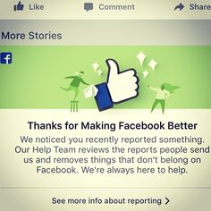 """...when you report porn profiles on Facebook. Should be """"2 thumbs up"""". Do your part - keep social sane. And seriously, do you actually think all those other hot models really want to be your friend?"""