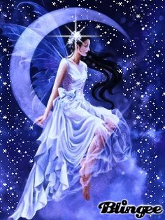 Des Gifs pour le plaisir Page 314 | GIFS Gratuits PJC Fairy Pictures, Fantasy Pictures, Angel Pictures, Good Night Gif, Good Night Moon, Beautiful Moon, Beautiful Fairies, Gorgeous Girl, Beau Gif