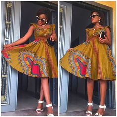 Elegant Ankara Short Gown Styles For Ladies. Hello beautiful ladies, Ankara latest styles have been selected. I think you need to change style. Ankara style is not just about skirt and blouse or iro a Latest Ankara Dresses, Latest African Fashion Dresses, African Dresses For Women, African Print Dresses, African Print Fashion, African Attire, African Women, Ankara Gowns, African Prints