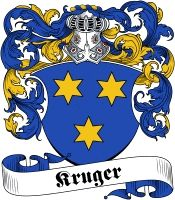 Kruger family crest / coat of arms from www.4crests.com #coatofarms #familycrest #familycrests #coatsofarms #heraldry #family #genealogy #familyreunion #names #history #medieval
