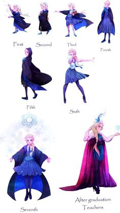Elsa at hogwarts Cred to artist. Why is she super young at t.-Elsa at hogwarts Cred to artist. Why is she super young at the start shes supos Elsa at hogwarts Cred to artist. Why is she super young at the start shes supos - Disney Pixar, Arte Disney, Disney And Dreamworks, Disney Frozen, Humour Disney, Disney Jokes, Disney Cartoons, Disney Hogwarts, Disney Princess Art