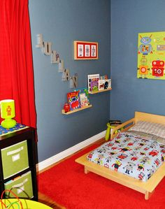 I'm thinking Griffin's big boy room will be robot themed. I was inspired by @Nicole Balch MiY 5e: Little Boy's Room