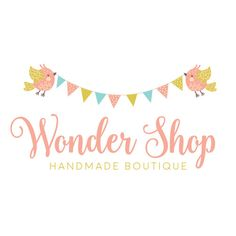 Premade Logo - Birds & Bunting Premade Logo Design - Customized with Your Business Name!