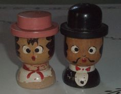 Cute Vintage Man and Lady New York City  Wooden Salt by tellartie, $4.50