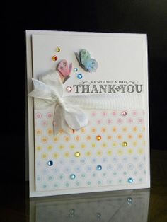 card by Geri.... love the bling on the spots!