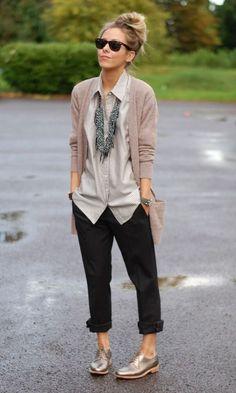 De androgyne garderobe: brogues! Gotto love her style :) #shoes #fashion #androgyny #femininity #style!