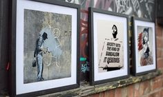 Impresión de arte callejera de Banksy