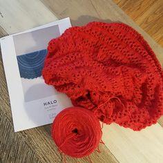 Jared Flood's Halo pi shawl. Custom dyed BFL fingering by Ambrosia yarns.