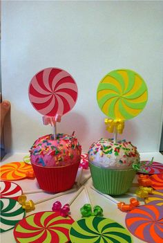 candyland cupcake topper