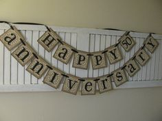 Golden Wedding Anniversary Banner Bunting Garland Sign Can Add Additonal Row with Names on Etsy, $28.00