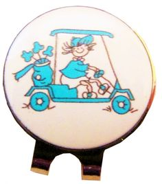 Check out our Golf Gals Golf Cart (Asst. Colors) CMC Ball Marker & Shiny Nickel Visor Clips! Find the best golf gear and accessories at Lori's Golf Shoppe. Click through now to see this Ball Marker & Shiny Nickel Visor Clips!