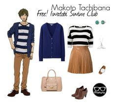 """Makoto Tachibana Closplay - Free! Iwatobi Swim Club / Eternal Summer"" by closplaying ❤ liked on Polyvore"