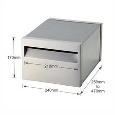 Milano 193 Letterbox Front & Back Set with Adjustable Sleeve - Rear Opening…