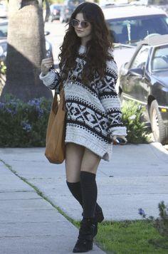 Selena Gomez Goes Pantless in Oversized Sweater