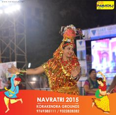 India has festivals to mark seasonal changes, seeding and harvesting, family occasions – just about everything! Navratri –as the name indicates –is a nine day festival or a nine-night festival.  Come an enjoy the fullest this year only #KoraKendraNavratri2015