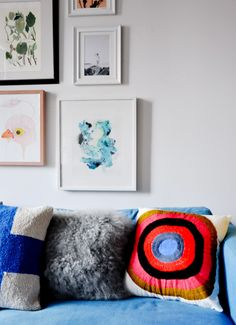 Striped Circle Pillow Cover