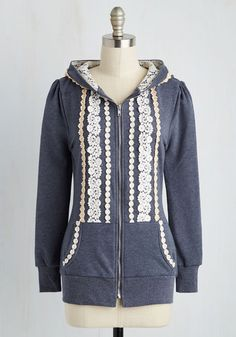 Ever So Soften Hoodie in Lake - Blue, Solid, Casual, Long Sleeve, Hoodie, Fall, Folk Art, Blue, Best Seller, Long Sleeve, Lace, Crochet, Top Rated, Exposed zipper, Lace, Pockets, Spring, Knit, Good, Mid-length, Tis the Season Sale, Lounge, 1