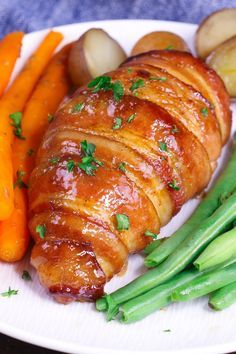 This Brown Sugar Bacon Wrapped Chicken is a simple recipe that everyone will love. Chicken is rubbed with brown sugar and seasonings, wrapped in bacon and baked to golden crispy perfection! So juicy and flavorful you'll want to make it again and again…