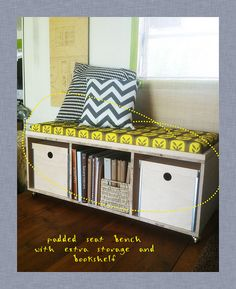 DIY storage bench- store some of Parker's toys