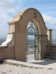 The Monastery Gate, Orihuela Monastery, Spain...