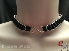 Submissive Collar Infinity Collar Forever by EmbellishMaille