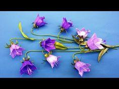 Ribbons flowers bells.DIY/Campanas flores de cintas/Колокольчики из лент - YouTube