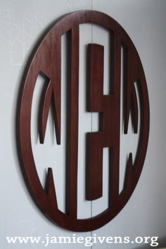 beautiful wooden monogram custom wooden monogram large 35 and up stained or