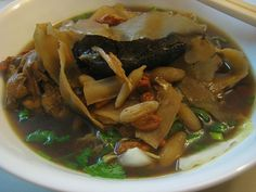 Perfect comfort food for winter...there's egg noodles lurking underneath all that herbal goodness.    Cuisine: Chinese